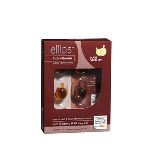 ELLIPSHair Vitamin With Ginseng & Honey Oil 2 x 6's,ECOUPON RM10 OFF ECOMECOUPON RM7 OFF ECOM