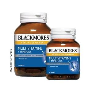 BLACKMORESMultivitamins + Minerals 120's + 30's,ECOUPON RM15 OFF DECECOUPON RM13 OFF