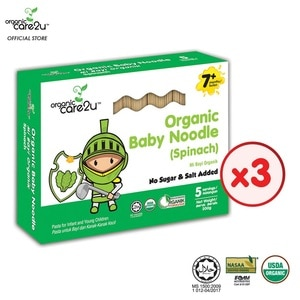 ORGANIC CARE2UOrganic Baby Noodle - Spinach (200g x 3 Boxes),PWP @ RM5 ISGWP DA ACNE PATCH DAY 3S ECOM