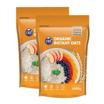 Organic Instant Oats 500gm (Twin Pack)