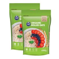 Organic Rolled Oat 500gm (Twin Pack)
