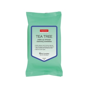 PUREDERMTea Tree Make-up Remover Cleansing Towelettes 30's,ECOUPON RM10 OFF ECOMECOUPON RM7 OFF ECOM