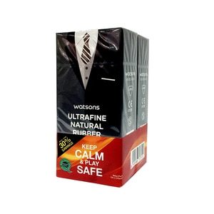 WATSONSUltrafine Natural Condom 12's + 12's,MBR ECOM ADD 10% OFF APR21 MOBECOUPON RM7 OFF JAN21