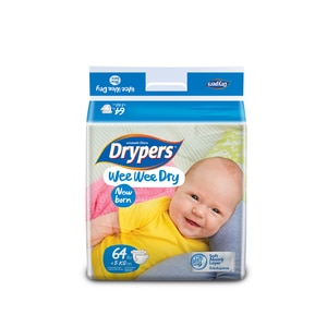 DRYPERSWee Wee Dry New Born 64's,ECOUPON RM10 OFF ECOMECOUPON RM7 OFF ECOM