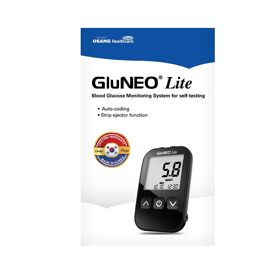 Infopia Gluneo Lite BGMS With Strips Value Pack 1s