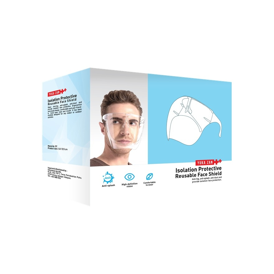 Reusable Adult Protective Face Shield 1's