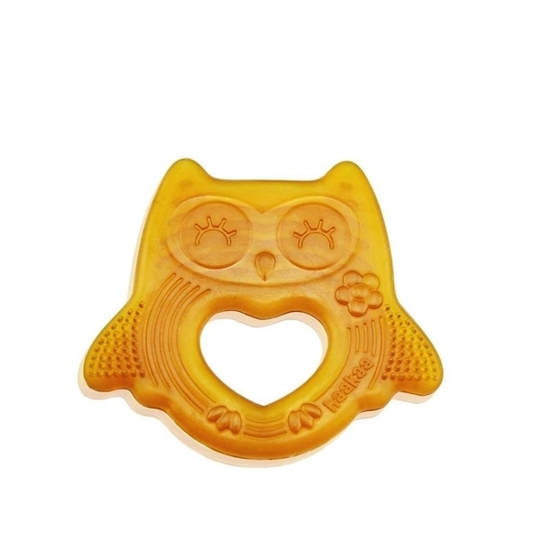Natural Owl Smiling Teether
