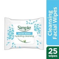 Simple Water Boost Hydrating Cleansing Wipes 25s'