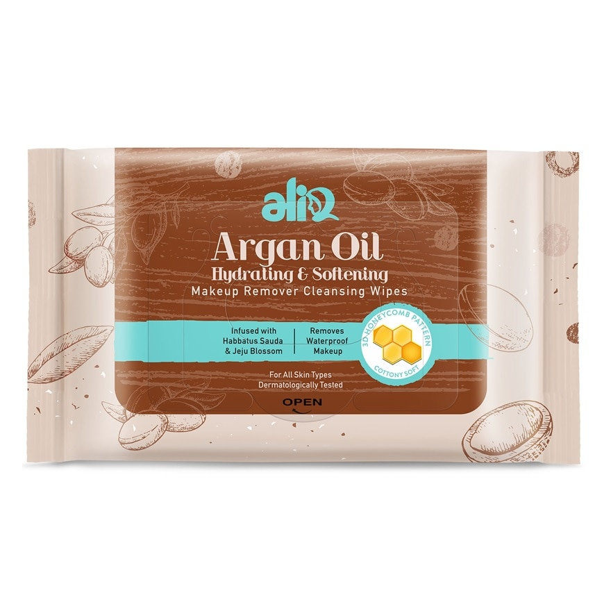 Argan Oil Makeup Remover Cleansing Wipes 30s