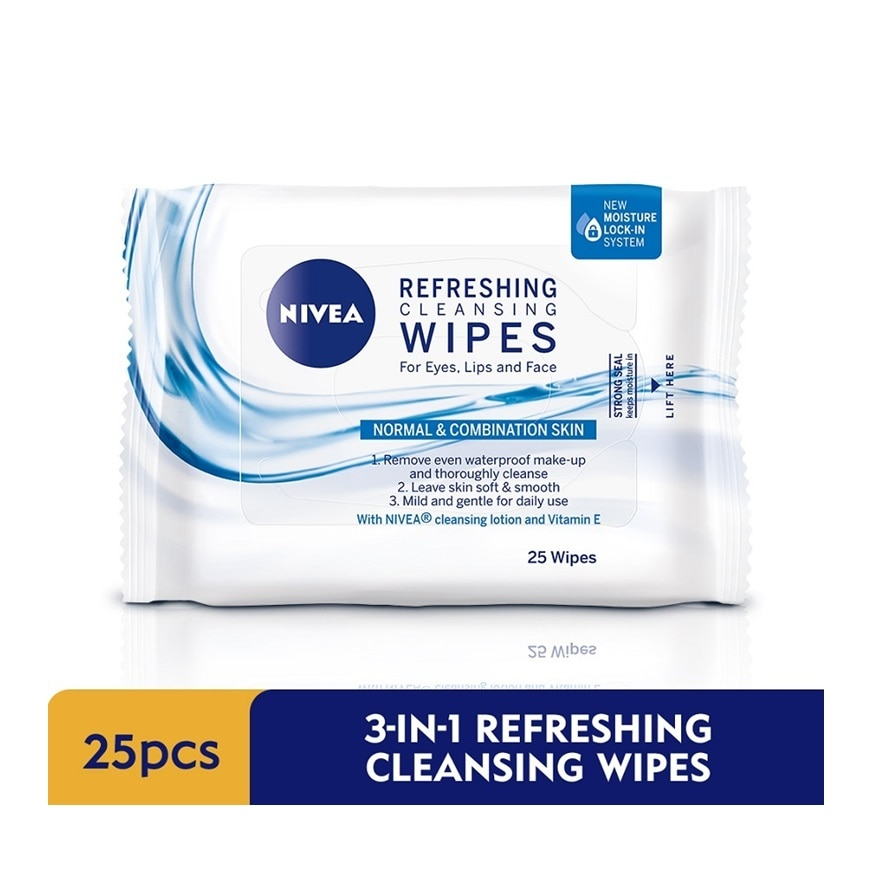 Face Care 3-in-1 Refreshing Cleansing Wipes 25pcs