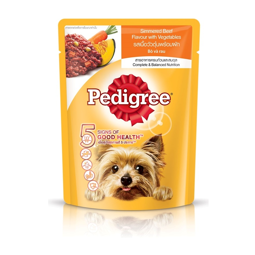 Dog Wet Food Pouch Simmered BeefwVeg 80g