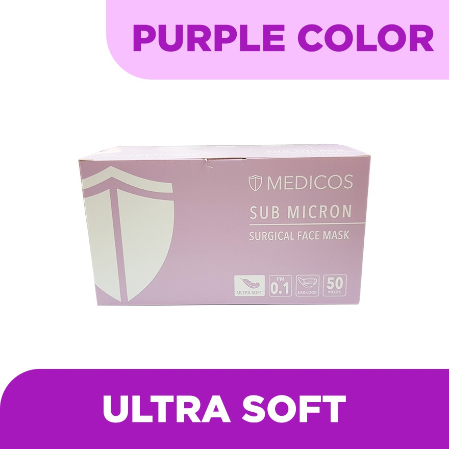 4ply Lumi Series Surgical Face Mask Purple 50's