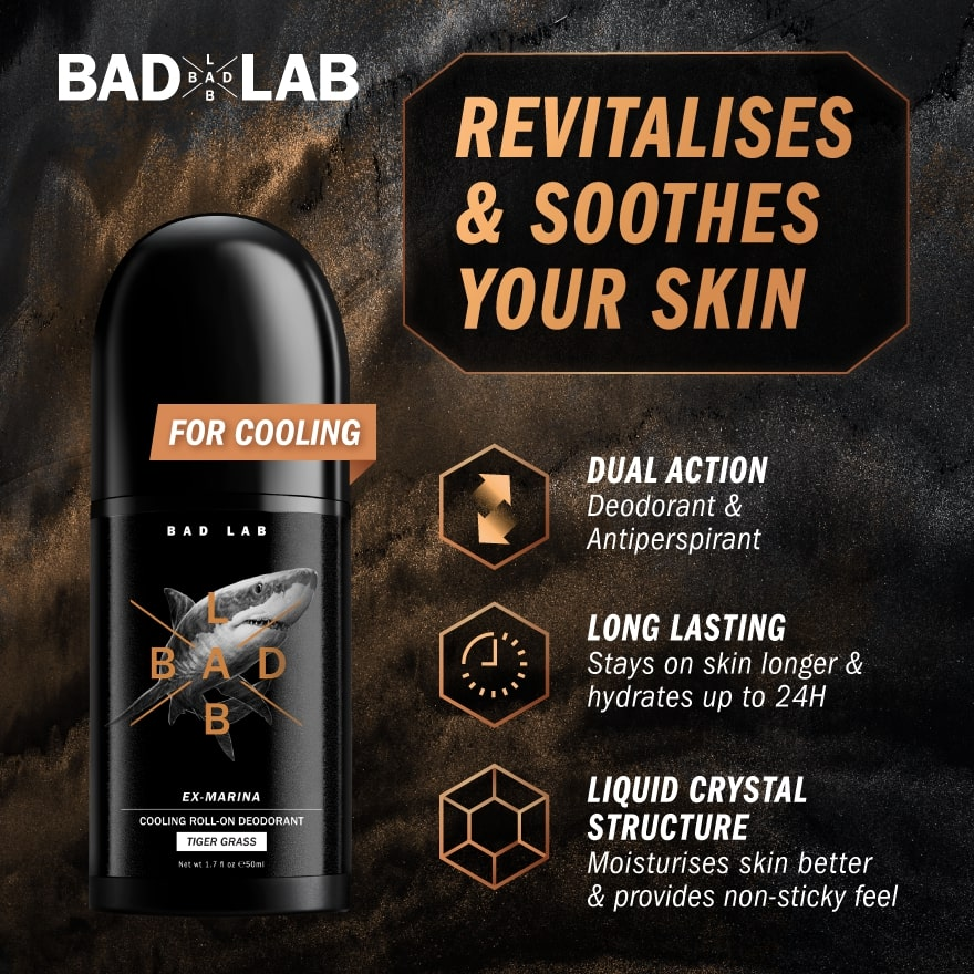 BADLABDeo Roll On Serum (Cooling) Tiger Grass 50ml,Body ProductsGWP BL SWITCHBLADE COMB 1S ECOM