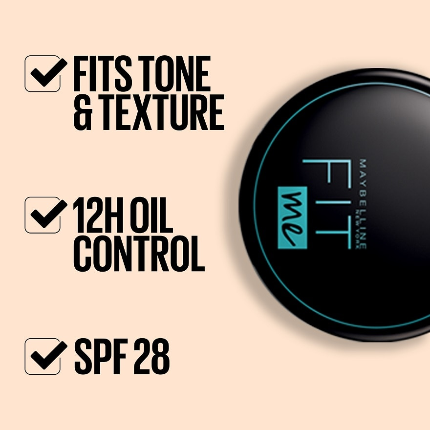 MAYBELLINEFit Me Compact Powder 112,VOUCHER RM5 OFF COSMETICECOUPON RM12 OFF ONLINE
