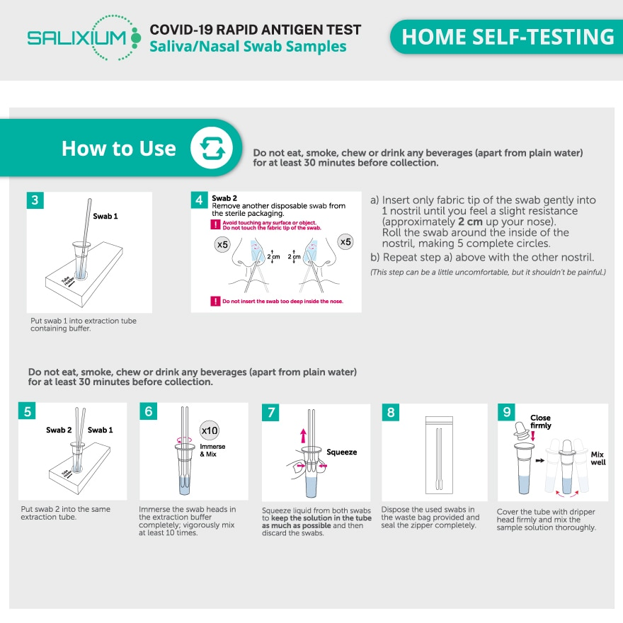 SALIXIUMCovid-19 Rapid Antigen Home Test Kit 1's,POINT REDEMPTIONECOUPON RM13 OFF