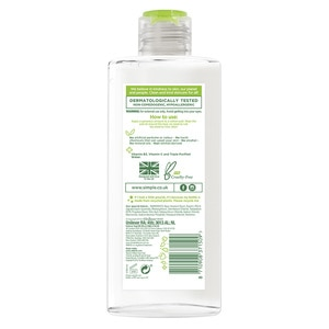 SIMPLEMicellar Cleansing Water 400ml,ECOUPON RM10 OFF ECOMECOUPON RM7 OFF ECOM