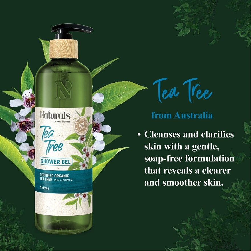 NATURALS BY WATSONSTea Tree Shower Gel 490ml,ECOUPON RM10 OFF ECOMPWP @ RM5 IS