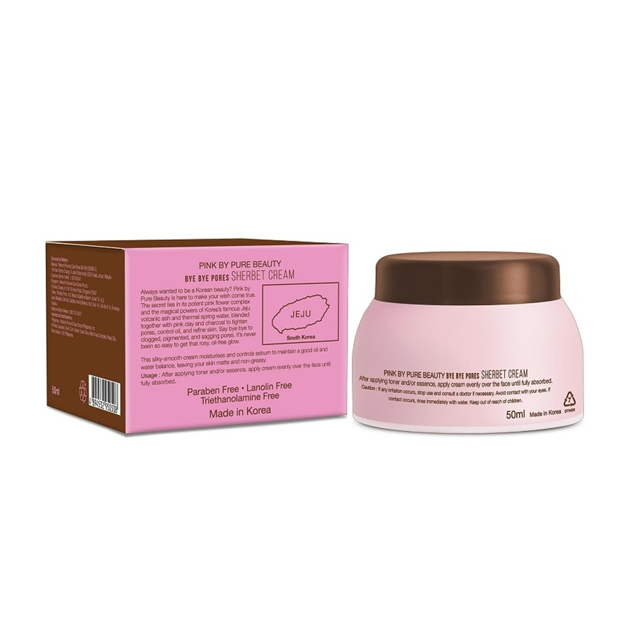 PINK BY PURE BEAUTYBye Bye Pores Sherbet Cream 50ML,PWP @ RM12.80 ISPWP @ 20% MAR