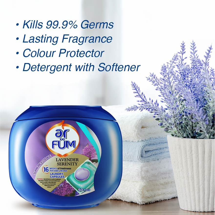 AR FUMLaundry Capsule Lavender Serenity 42s,ECOUPON RM10 OFF ECOMPOINT REDEMPTION