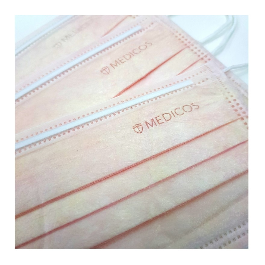 MEDICOS4ply Lumi Series Surgical Face Mask Peach 50's,MBR FREE HOME DELIVERY (EM)MBR ECOUPON RM50 OFF JUN