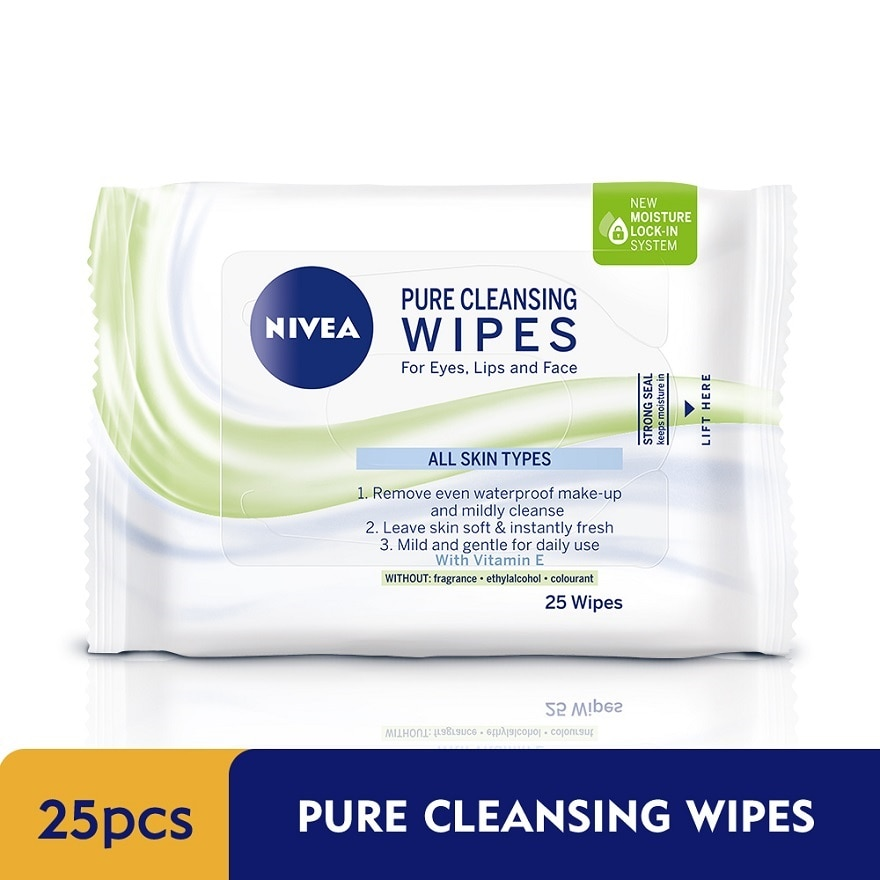 NIVEAPure Cleansing Wipes 25's,VOUCHER RM5 OFF SC PUSHEEN CRMVOUCHER RM5 OFF SC PUSHEEN CRM