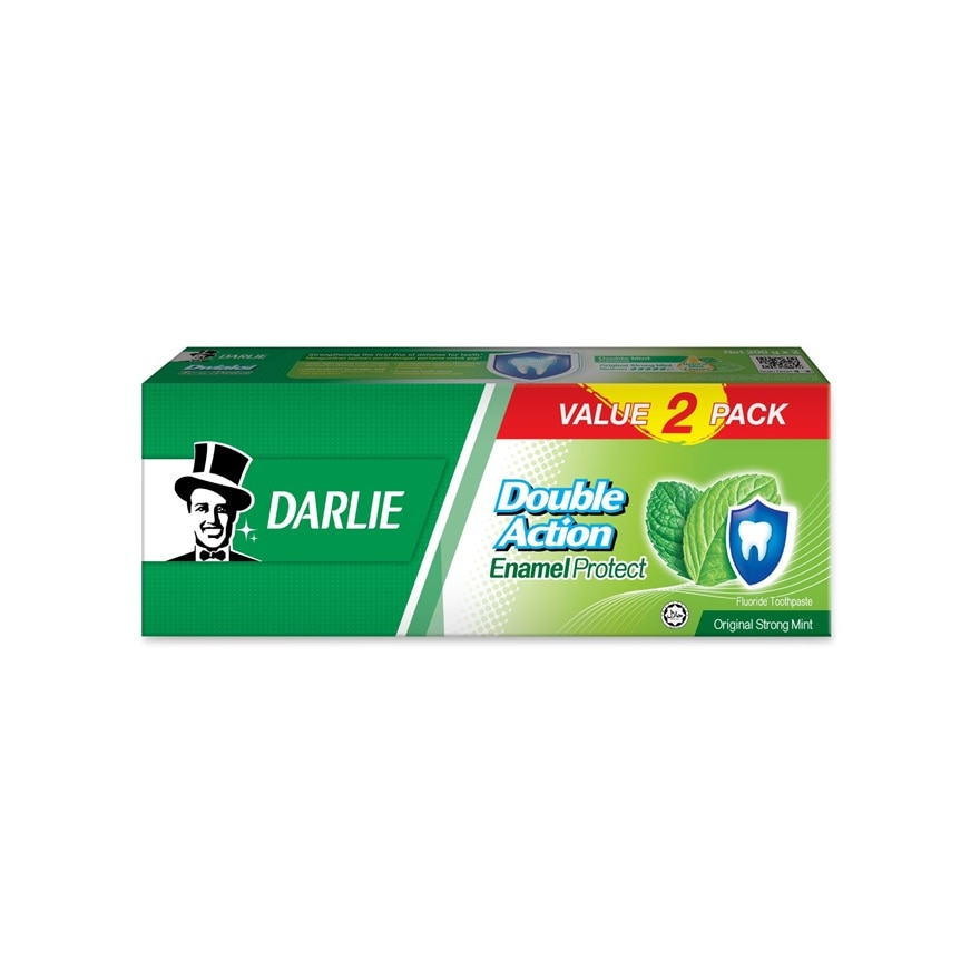 DARLIEDouble Action Enamal Protect Strong Mint 2x200g,MBR ECOM ADD 10% OFF MAY21MBR ECOM ADD 10% OFF MAY21