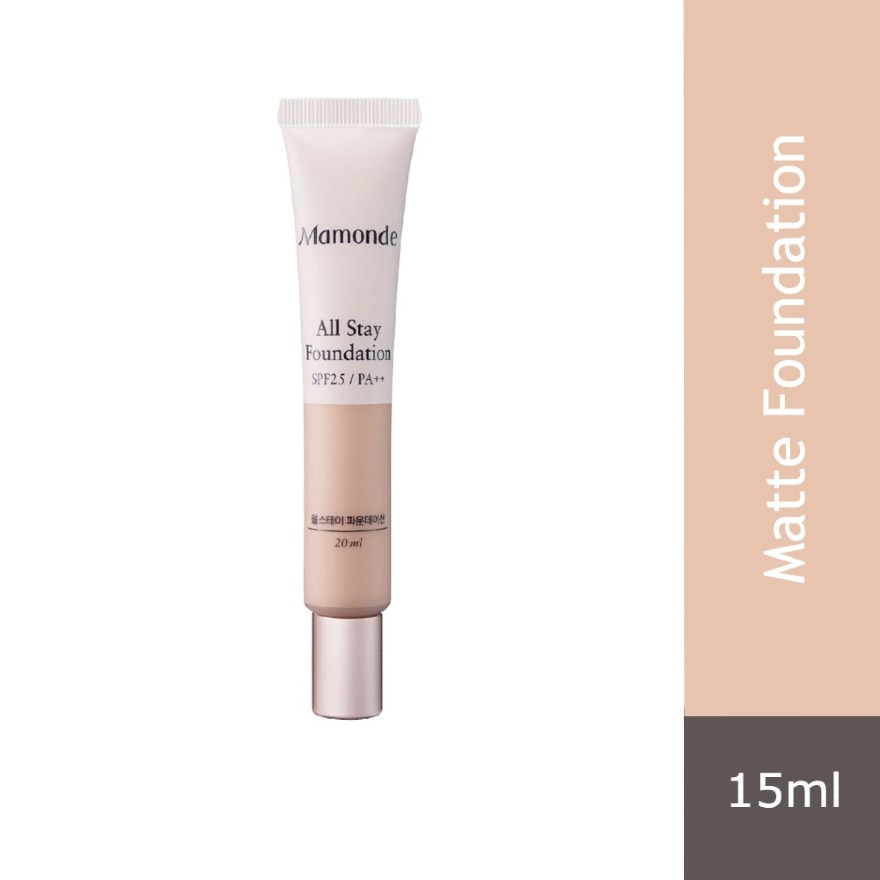 MAMONDEAll Stay Foundation 21N 15ML,VOUCHER RM5 OFF COSMETICVOUCHER RM5 OFF COSMETIC