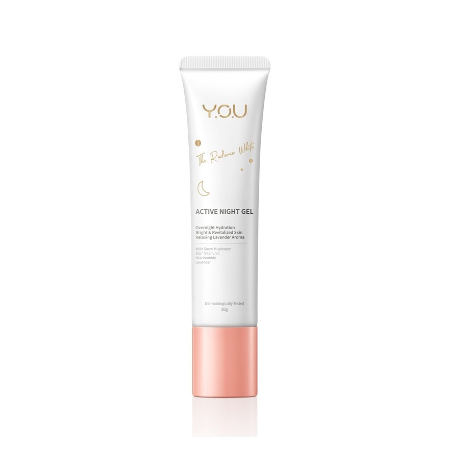Y.O.UThe Radiance White Active Night Gel 30g,VOUCHER RM5 OFF SC PUSHEEN CRMGET 2X POINTS T&G TMP