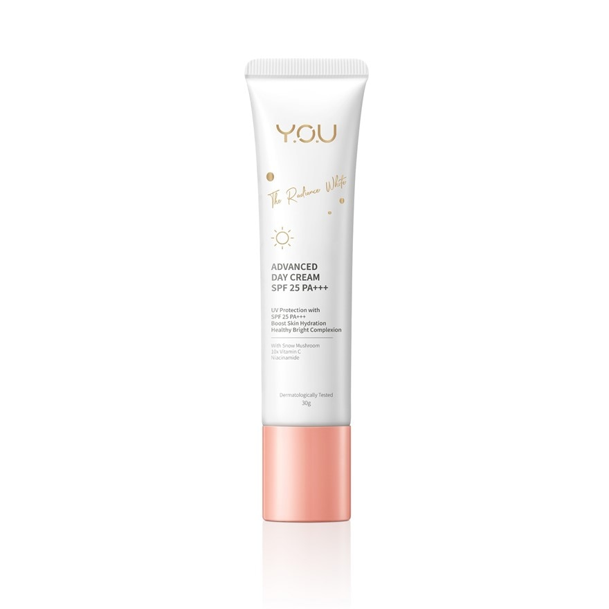 Y.O.UThe Radiance White Advanced Day Cream 30g,VOUCHER RM5 OFF SC PUSHEEN CRMGET 2X POINTS T&G TMP