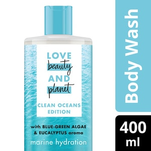 LOVE BEAUTY & PLANETBody Wash Wave of Hydration 400ml,GWP CLEAR FOLDABLE BAG ECOM