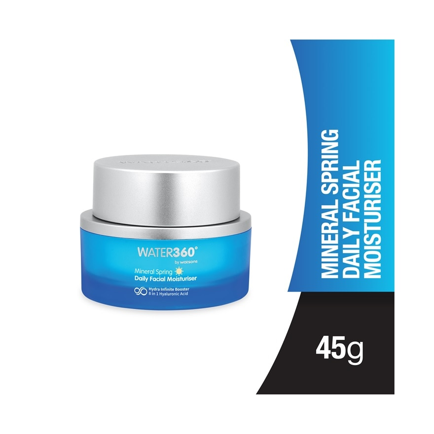 WATER360 BY WATSONSMineral Spring Daily Facial Moisturiser 45g,ECOUPON RM10 OFF WATSONS360ECOUPON RM10 OFF WATSONS360