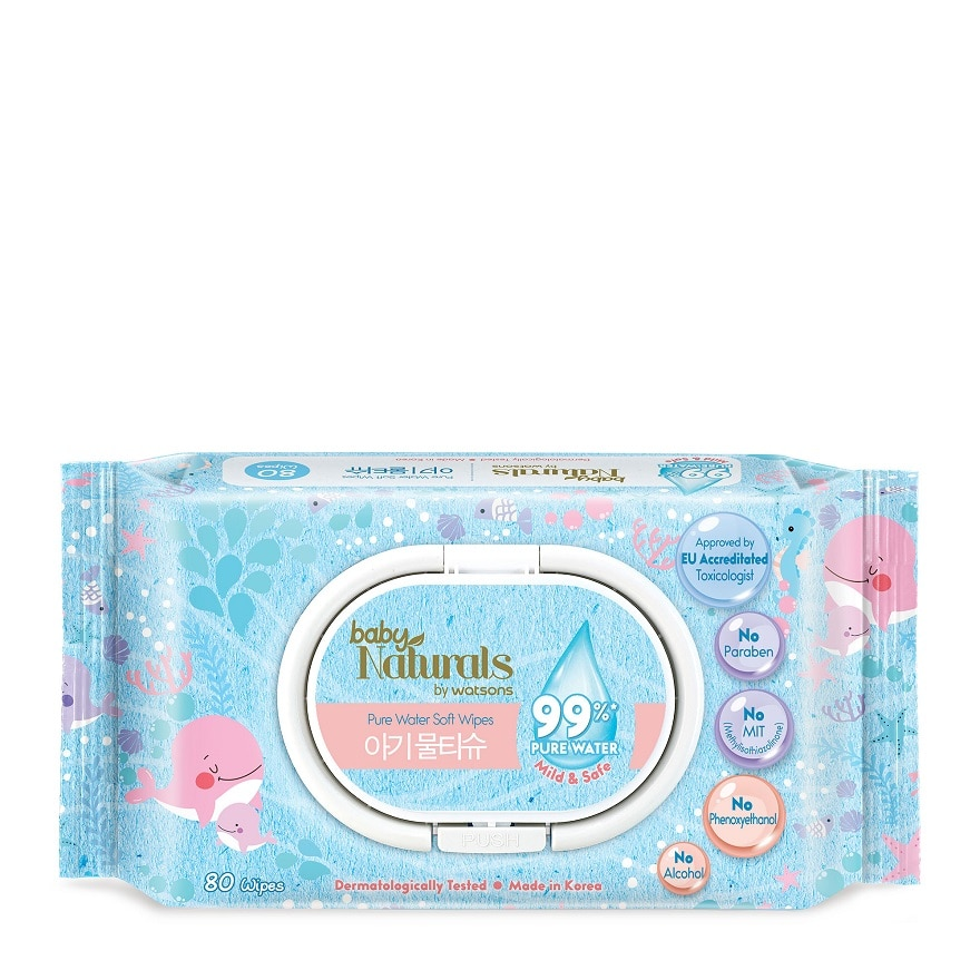 BABY NATURALS BY WATSONSBaby Naturals by Watsons Pure Water Wipes,VOUCHER RM5 OFF OLVOUCHER RM5 OFF OL