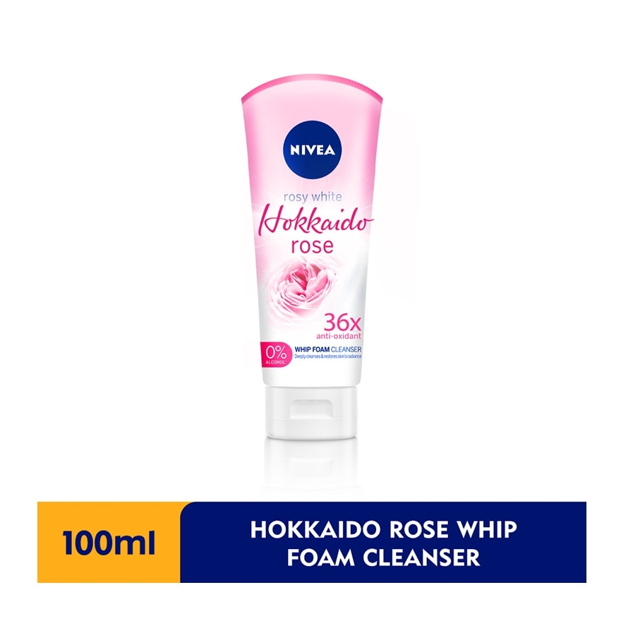 NIVEAFace Care Hokkaido Rose Whip Foam 100ml,POINT REDEMPTIONFREE GIFT