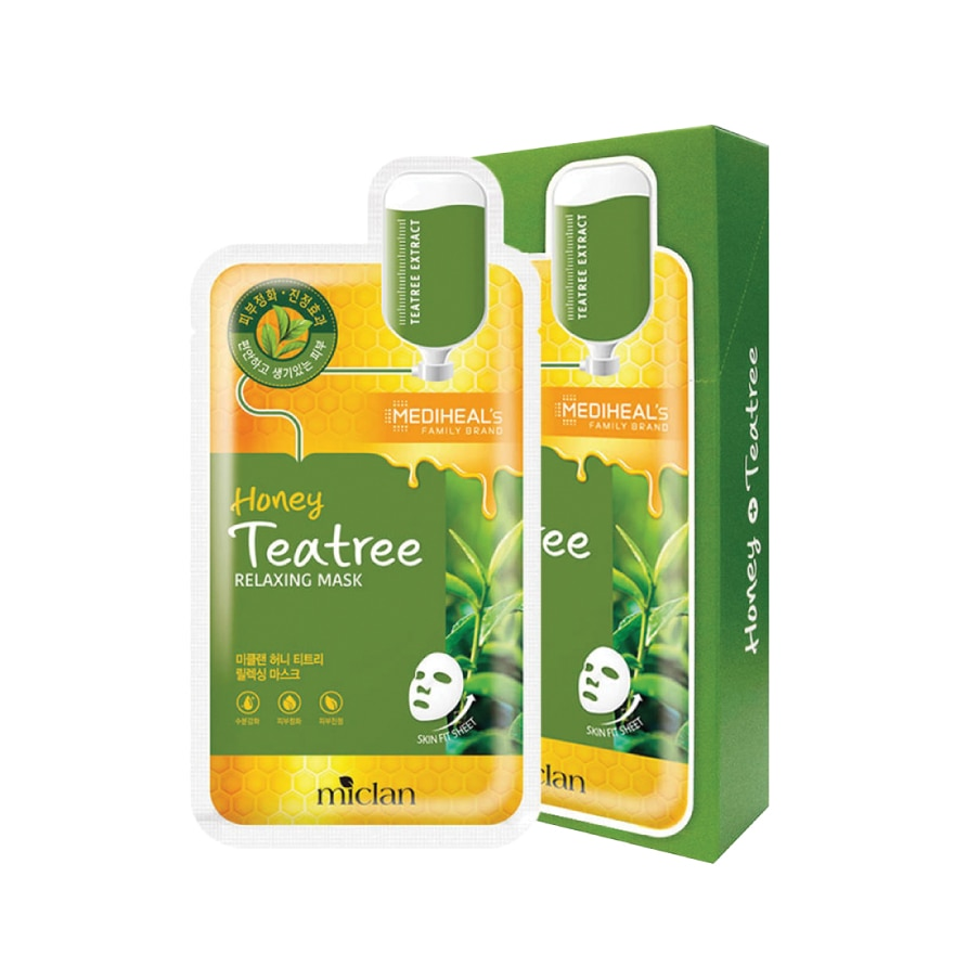 MICLAN BY MEDIHEALHoney Teatree Relaxing Mask Pack 10S,POINT REDEMPTIONGET 2X POINTS APR TMP