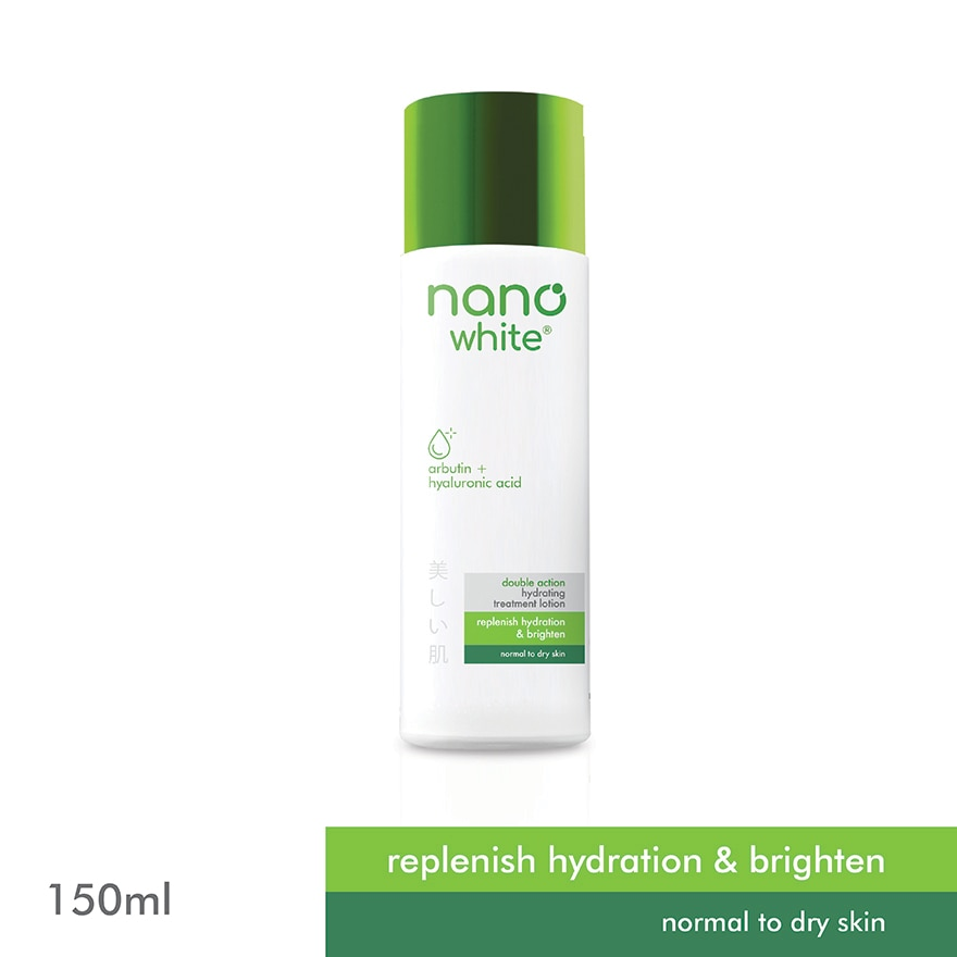 NANO WHITEDouble Action Hydrating Treatment Lotion 150ml,MBR FREE HOME DELIVERY (EM)MBR ECOUPON RM50 OFF JUN