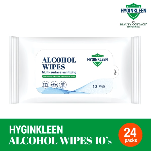 BEAUTY COTTAGEHyginkleen Alcohol Wipes 75% 24X10S,MBR FREE HOME DELIVERY (EM)GWP WS TP HYD SERUM 2ML ECOM