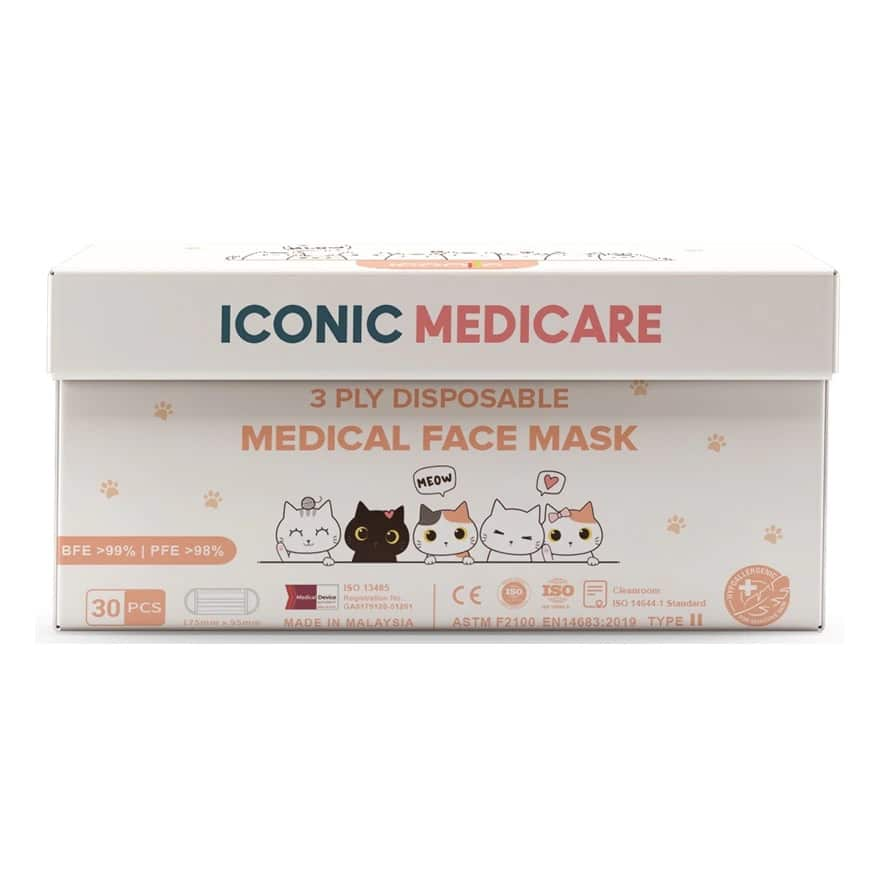 ICONICIconic Cat Series 3ply Medical Facemask 30s,GWP EFT MNY GARNIER ECOMGET 5X POINTS JUL TMP