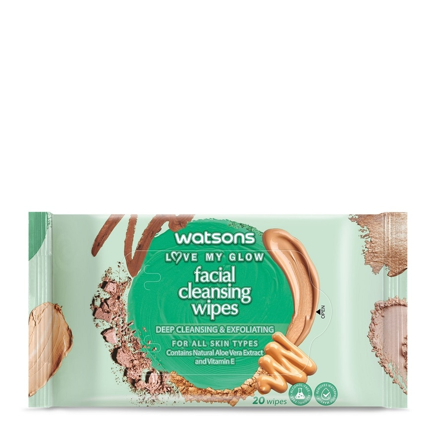 WATSONSDeep Cleansing & Exfoliating Facial Wipes 20S,VOUCHER RM5 OFF OLVOUCHER RM5 OFF OL