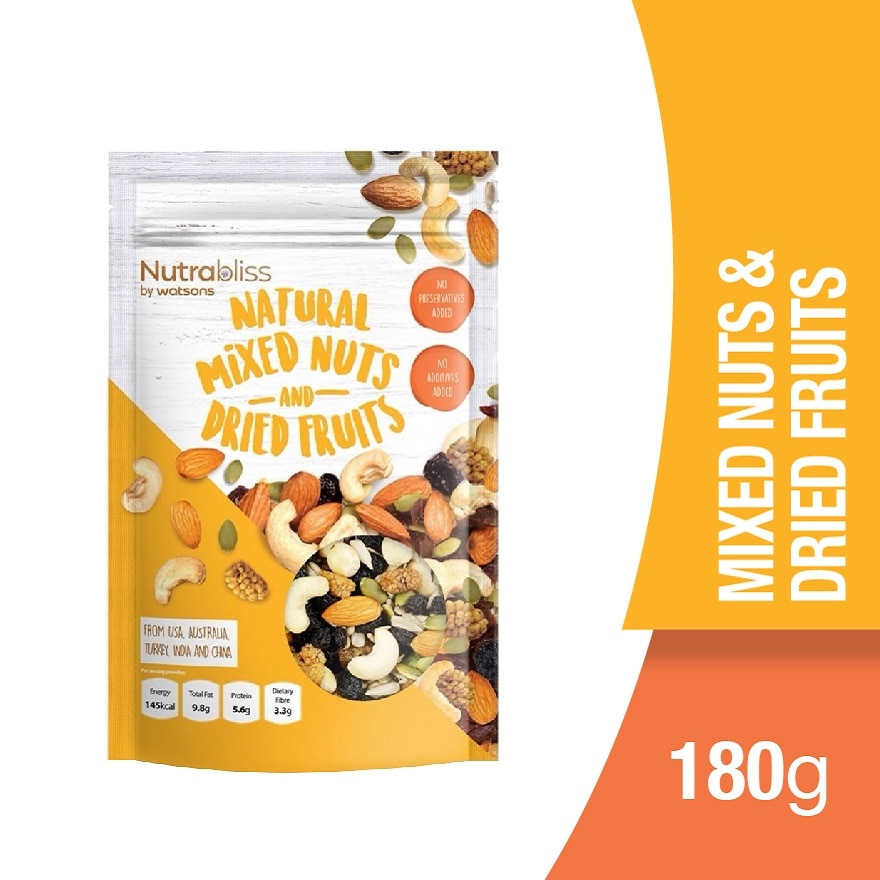 NUTRABLISS BY WATSONSNatural Mixed Nuts and Dried Fruits,VOUCHER RM5 OFF OLVOUCHER RM5 OFF OL