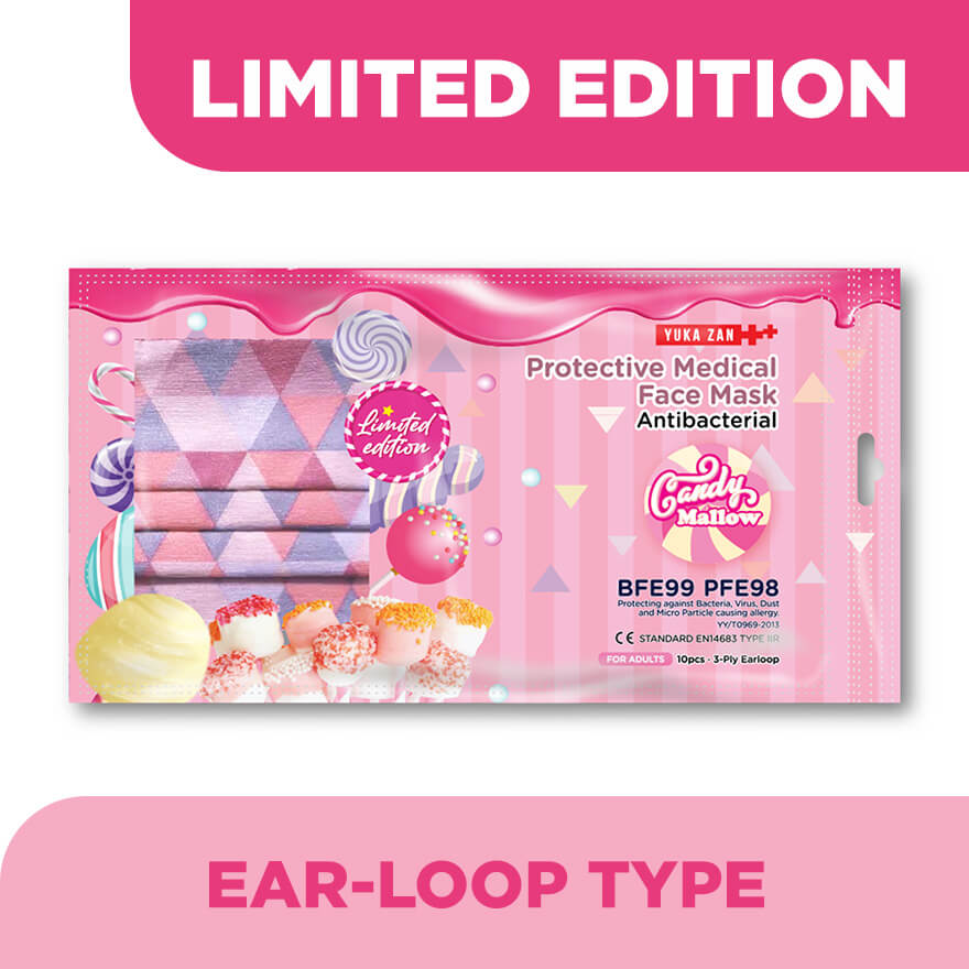 YUKA ZANProtective Medical Facemask Candy Mallow 10's,ECOUPON RM8 OFF DECPOINT REDEMPTION