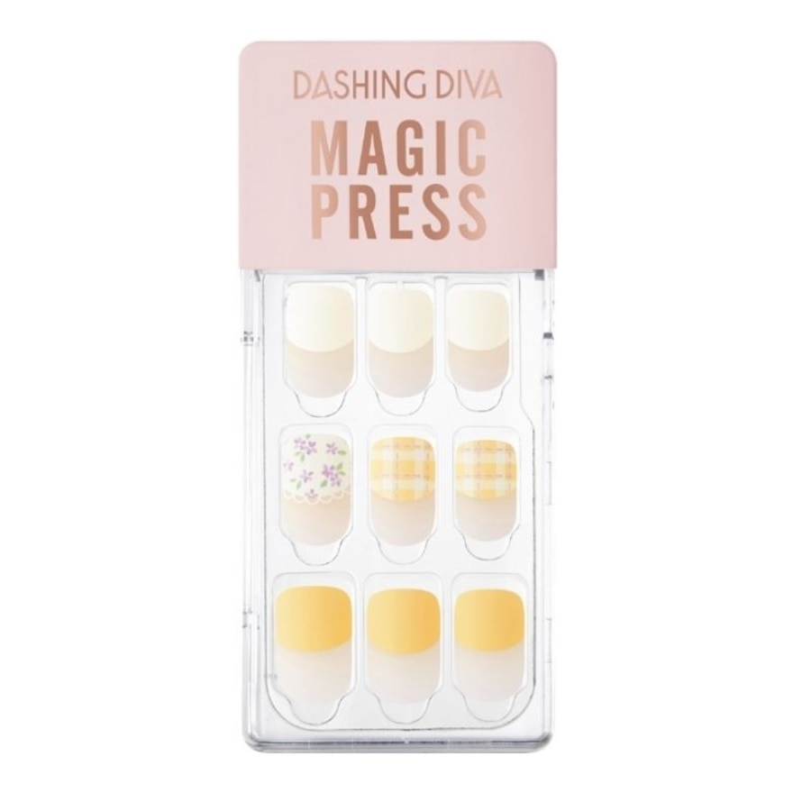 DASHING DIVAMP Yellow Spring Mani Retro Picnic MWK100,VOUCHER RM5 OFF COSMETICVOUCHER RM5 OFF COSMETIC