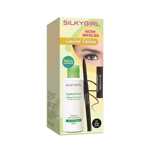 SILKY GIRLLONG WEARING EYELINER+HYDRA CLEAN MU REMOVER VP,ECOUPON RM15 OFF DECECOUPON RM13 OFF