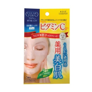 KOSE COSMEPORTClear White Mask Vitamin C 1'S,GWP KOSE SILICON E-CLNS ECOMECOUPON RM13 OFF