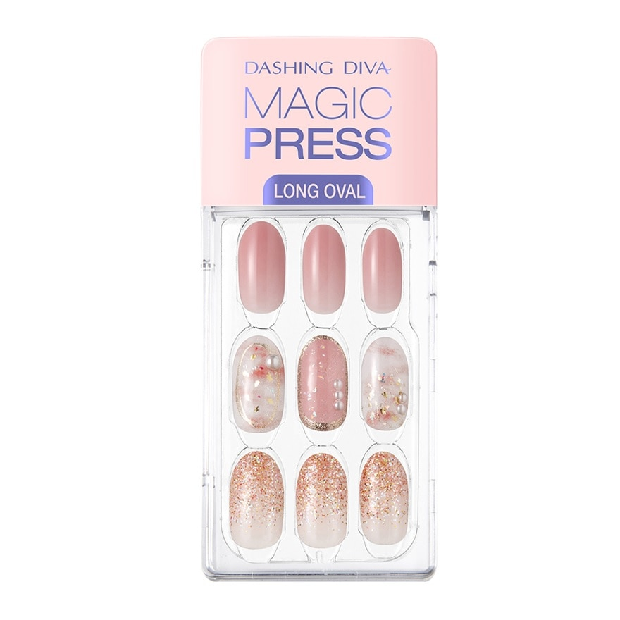 DASHING DIVAMagic Press Oval Long Mn Pink Flutter MDR710OL,VOUCHER RM5 OFF COSMETICVOUCHER RM5 OFF COSMETIC