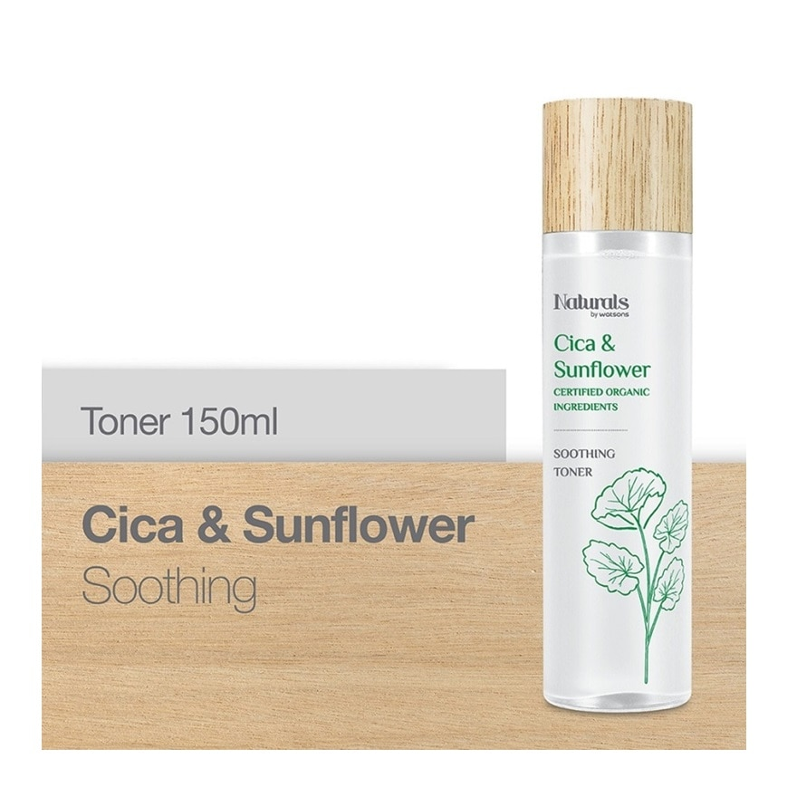 NATURALS BY WATSONSCica & Sunflower Soothing Toner 150ml,ECOUPON RM15 OFF ECOMECOUPON RM10 OFF ECOM