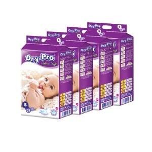 DRYPROUltra Soft Baby Tapes Diapers S - 81S x 4pck,POINT REDEMPTIONPWP @ RM5 IS