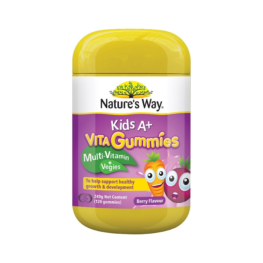 NATURE'S WAYNW KID A+ VITA GUMMIES 120S,GWP PLANNER PINK OR BLACK ECOMPWP @ RM28 IS