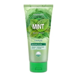 WATSONSMint and Tea Tree Oil Scented Gel Body Scrub,VOUCHER RM5 OFF OLVOUCHER RM5 OFF OL
