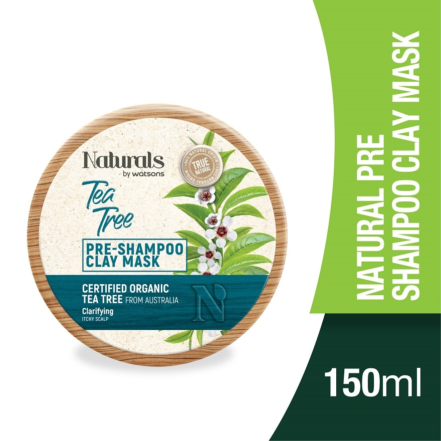 NATURALS BY WATSONSTea Tree Pre-shampoo Clay Mask 150ml,INSTANT RBT RM5 OFF WS ECOMECOUPON RM12 OFF WATSONS