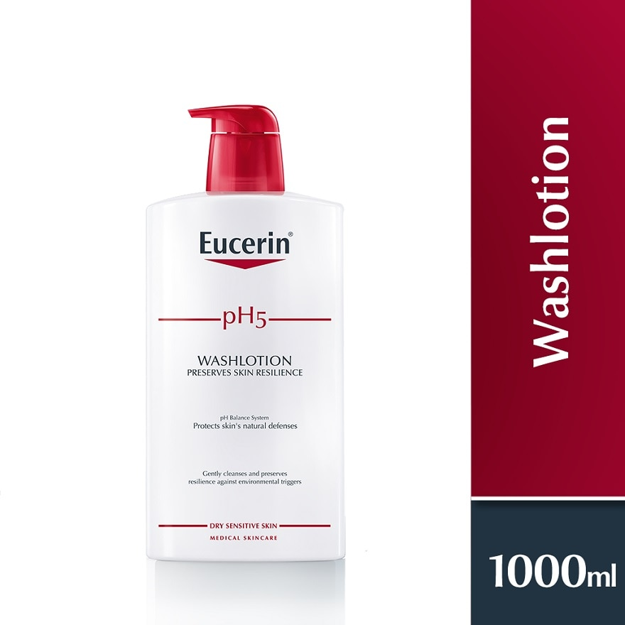 EUCERINpH5 Wash Lotion For Body And Face 1L + 200ml,MBR ECOM ADD 10% OFF MAY21MBR ECOM ADD 10% OFF MAY21